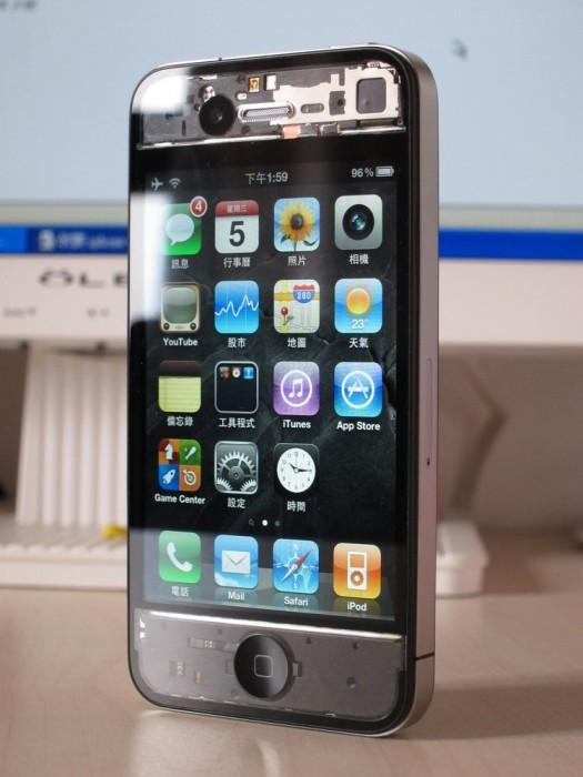 iPhone 4 s průhledným krytem