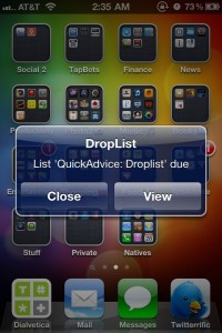 Droplist ToDo - Rapid lists with optional Dropbox sync by Bloomingsoft screenshot