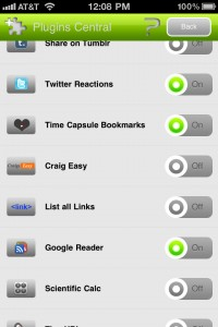 360 Web Browser version 3.1 (iPhone 4) - Plugins Central
