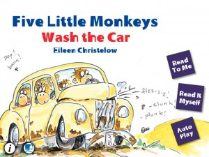 Five Little Monkeys Wash the Car by Oceanhouse Media screenshot