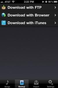 iBackupTunes by dw-c screenshot