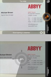 ABBYY Business Card Reader by ABBYY screenshot