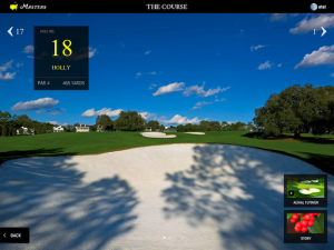 Flyover from The Master's Tournament app
