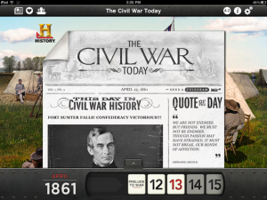 The Civil War Today app