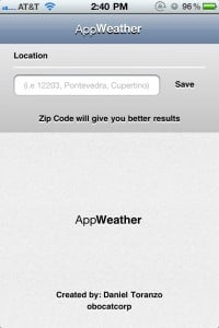 AppWeather by Daniel Toranzo Perez screenshot