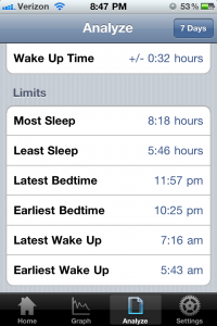 Sleep Tracker by Cameron Johnson screenshot