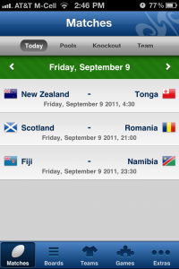 Rugby Arena - The 2011 World Cup Guide (Unofficial) by Alexandru Halmagean screenshot