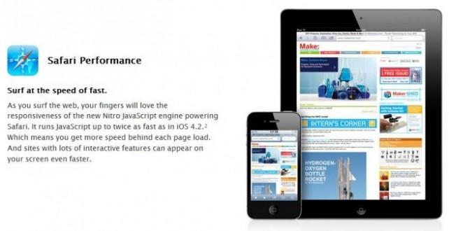 Safari JavaScript Nitro bude i pro webové aplikace na Home Screen
