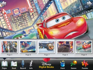 Cars 2 Storybook Deluxe - Page Select