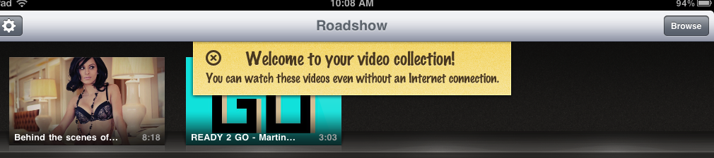 Roadhouse - Videos Saved For Offline Viewing
