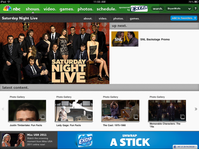 NBC for iPad