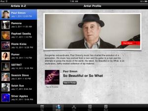 iTunes Festival London 2011 by iTunes screenshot