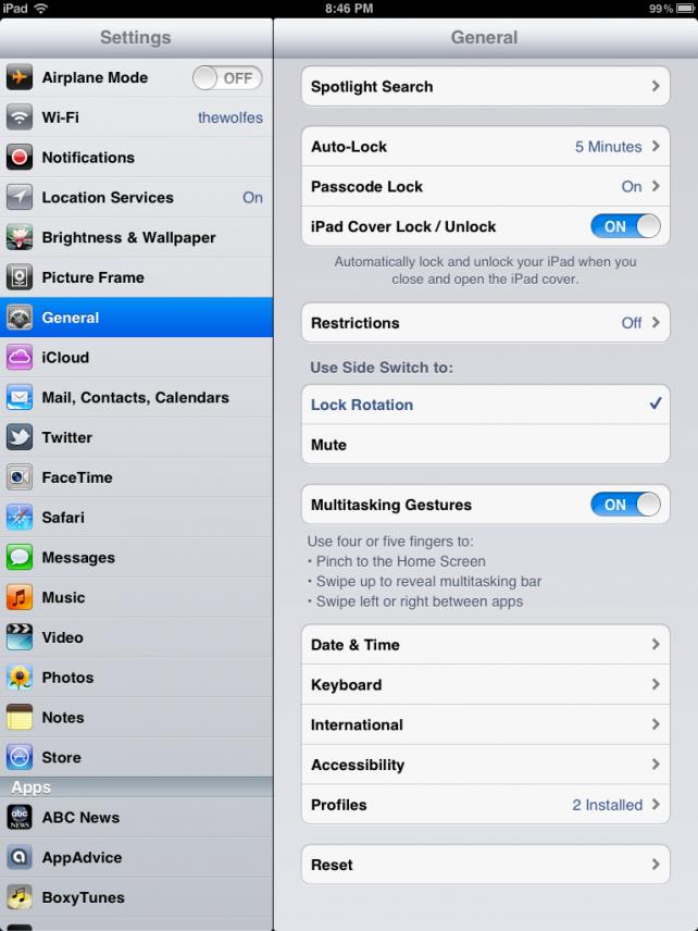 Gesturing on iOS 5