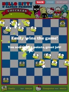 Hello Kitty Checkers by Chaotic Moon Studios, LLC. screenshot