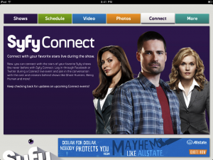 Syfy for iPad by NBC Universal, Inc. screenshot