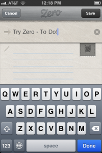Zero - Todo List by Functional Delights LLC screenshot