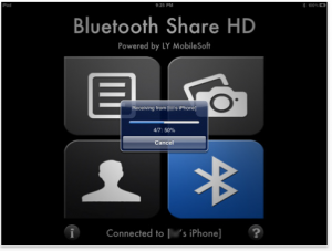 Bluetooth Share HD - Sharing Photos/Contacts/Files by LY MobileSoft screenshot