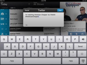 i.TV version 3.3 (iPad) - Twitter