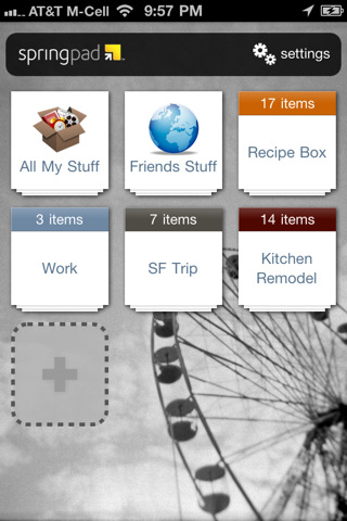 SpringPad for iPhone