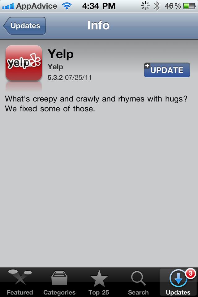 Yelp Update