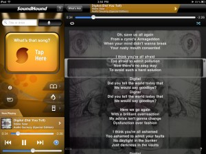 SoundHound (iPad) - LiveLyrics (iPod)