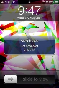 Alert Notes by Purkee screenshot
