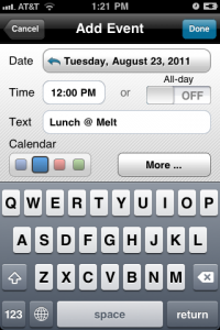 Easy Calendar by T. van Zummeren screenshot