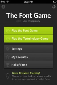 The Font Game by Justin Stahl screenshot
