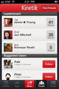 Kinetik - Share the apps you love by Kinetik screenshot