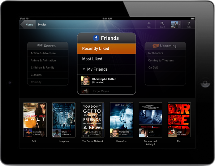Fanhattan for iPad - Facebook Integration