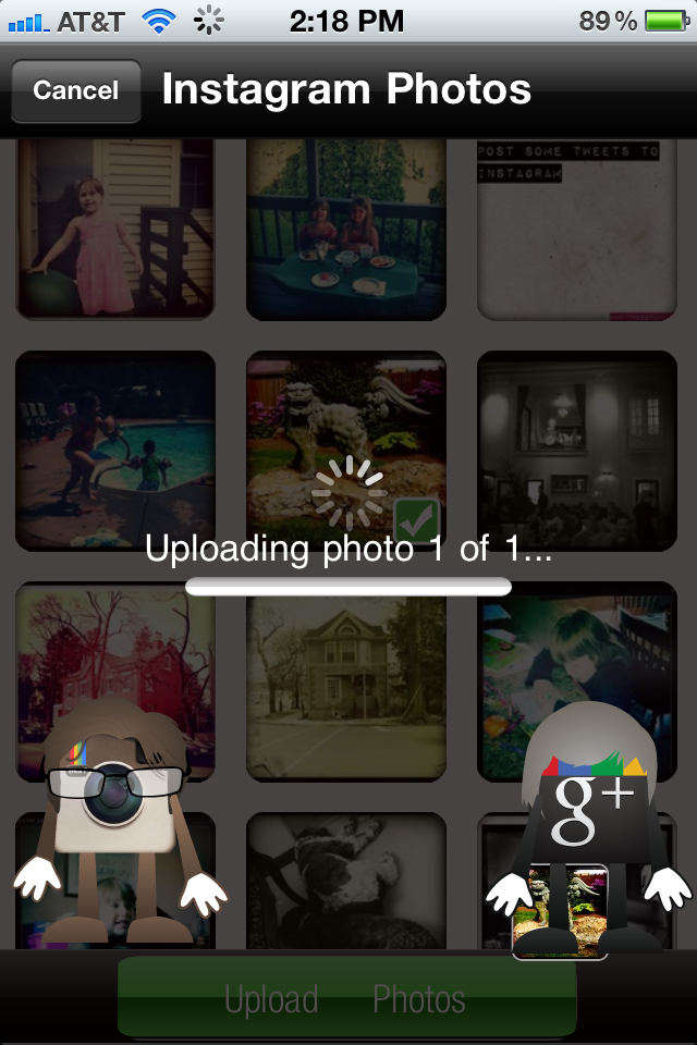 Google Plus Photo Importer - Uploading My Photos