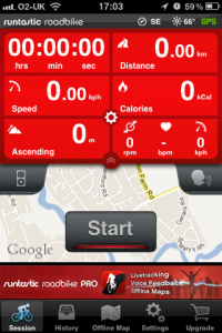 Road Bike Cycling Computer - GPS, Offline Maps, Speed and Cadence Sensor powered by runtastic by runtastic screenshot