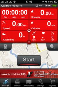 Road Bike Cycling Computer - GPS, Offline Maps, Speed and Cadence Sensor powered by runtastic by runtastic screenshot