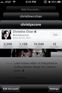 Twittelator Neue - Twitter Client for iOS5 by Big Stone Phone screenshot