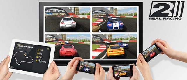 Real Racing 2 Party Play hra více hráčů přes AirPlay (video)