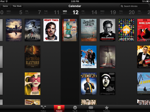 iTunes Movie Trailers - Amazing Calendar