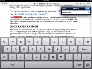 ReaddleDocs version 3.0 (iPad) - Search