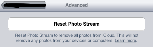 Reset Photo Stream Cache