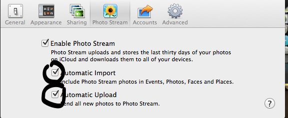 Uncheck The Last Two Options In iPhone Or Aperture