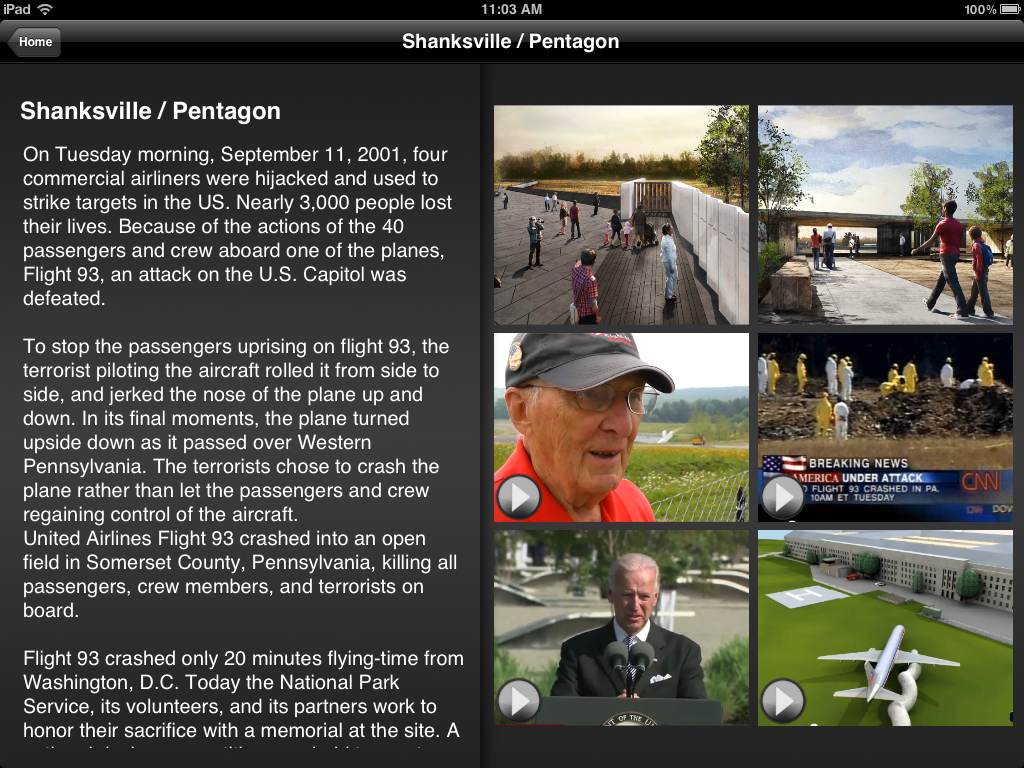 911 App - Shanksville Section