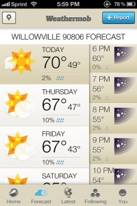 Weathermob by Weathermob, Inc screenshot