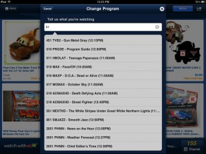 eBay (iPad 2) - TV Program Search