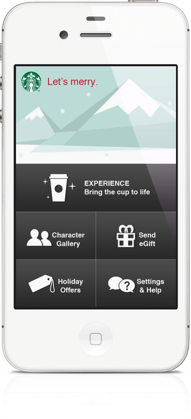Starbucks Launches New Holiday App For iPhone