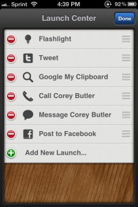 Launch Center - Flashlight, shortcuts, and more! by App Cubby screenshot