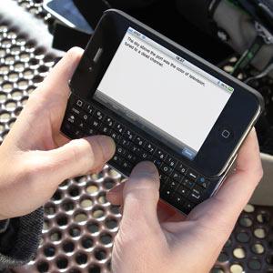 Bluetooth sliding keyboard