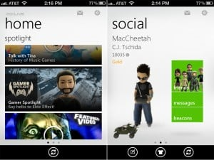 My Xbox LIVE (iPhone 4) - Home and Social
