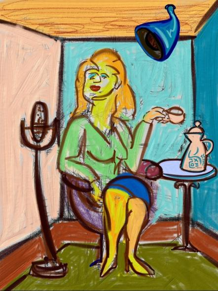 Siri at Work by Artist J. Kruehne