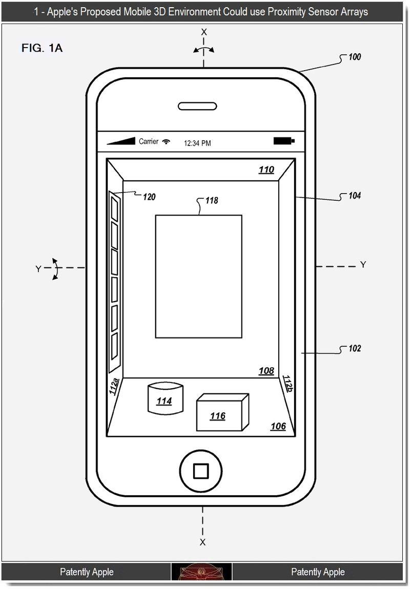 Apple si patentoval pseudo 3D zobrazení pro iOS rozhraní (video)