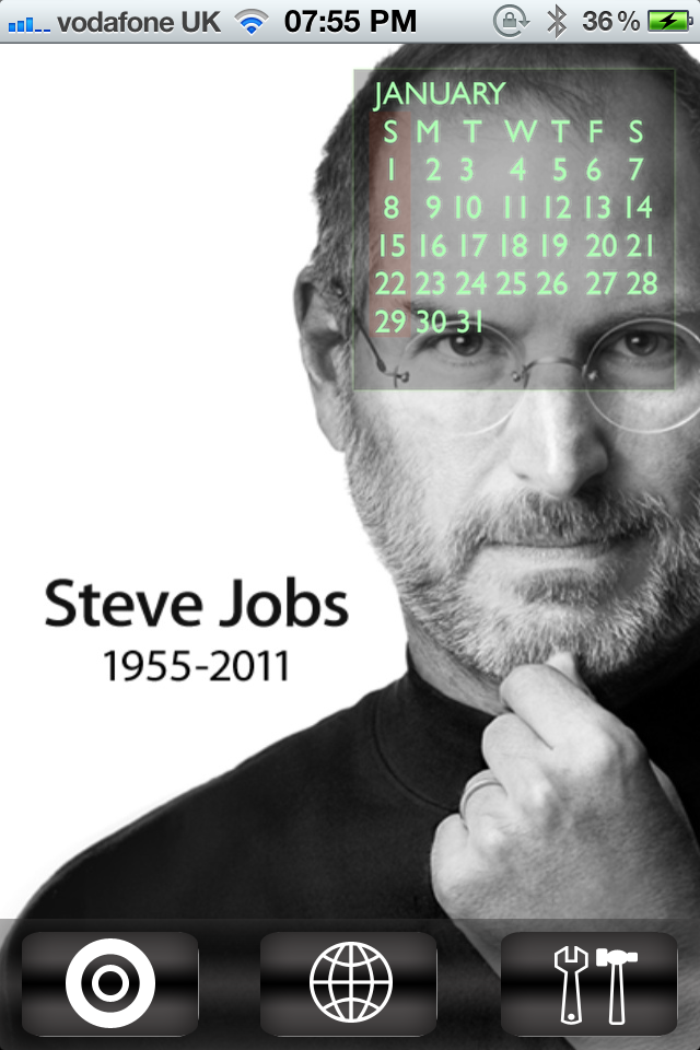 Jailbreak Only: Tribute Calendar – A Steve Jobs Tribute Hits The Cydia Store