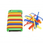 The Crayola Clickers for iPod touch -- colorful plastic stripes that snap on a polycarbonate case.